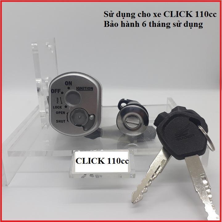 Bộ ổ khóa xe máy CLICK 110 2 cạnh thương hiệu SE