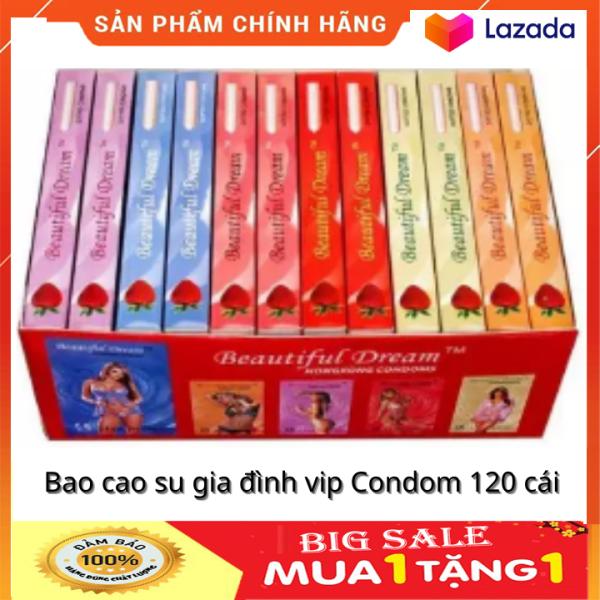Bao cao su gia đình vip Condom 120 cái - Bao cao su dùng gia đình - bap cao su gia đình loại tốt HSD 2025 cao cấp