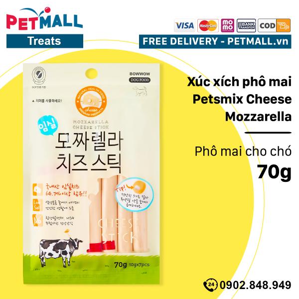 [HCM]X&uacutec x&iacutech phô mai Petsmix Cheese Mozzarella 70g - Phô mai cho chó Petmall