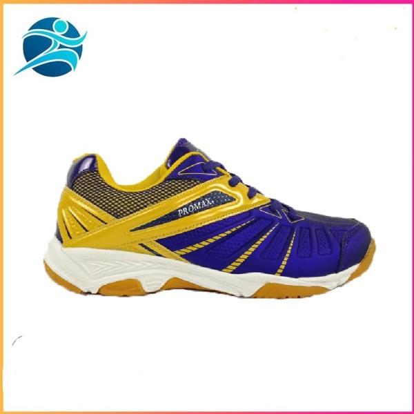 Giày đánh cầu lông nam nữ chuyên nghiệp Promax 19001 màu tím, đế kếp bám sân, Chống thấm nước - Giày thể thao - Giày bóng chuyền - giày cầu lông