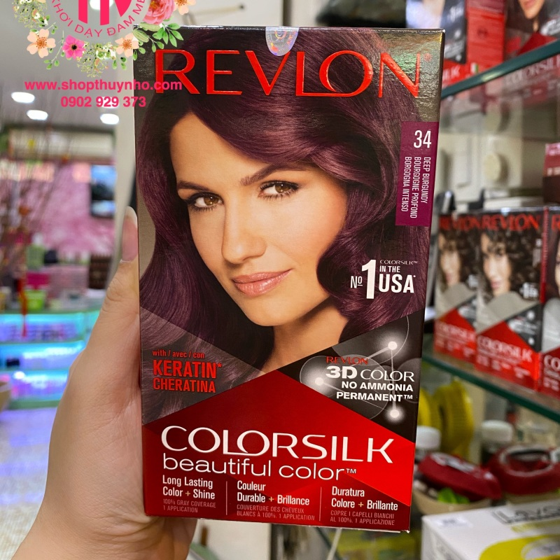 Thuốc nhuộm tóc Revlon ColorSilk số 34 - Tím sẫm cao cấp