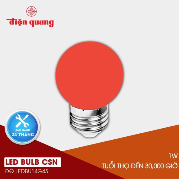 Đèn LED bulb Điện Quang ĐQ LEDBU14G45 01R (1W đỏ)
