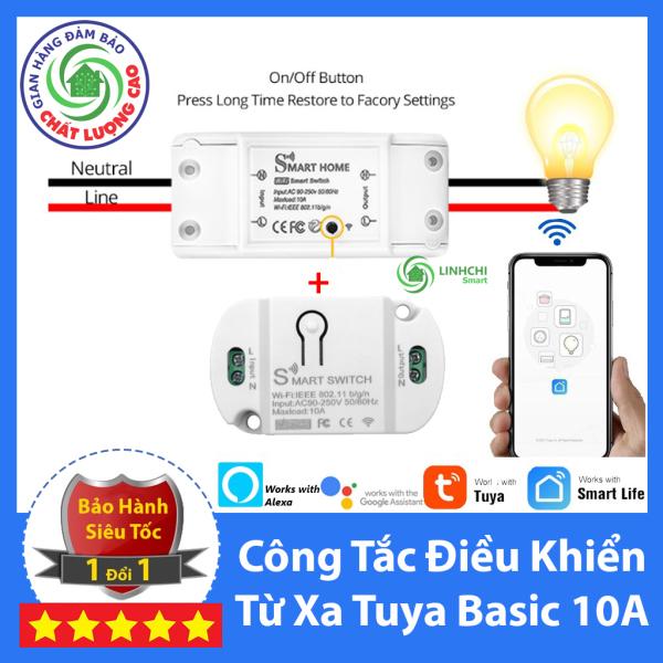 Công Tắc Thông Minh Điều Khiển Từ Xa Qua WIFI, 3G, 4G Tuya Smart Basic ( thay cho sonoff basic )