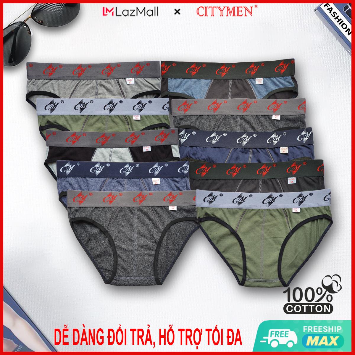 Combo 10 Quần Lót Nam cao cấp | CM | quần xì | xịp, sịp nam | vải cotton 2 chiều | đồ lót | CITYMEN