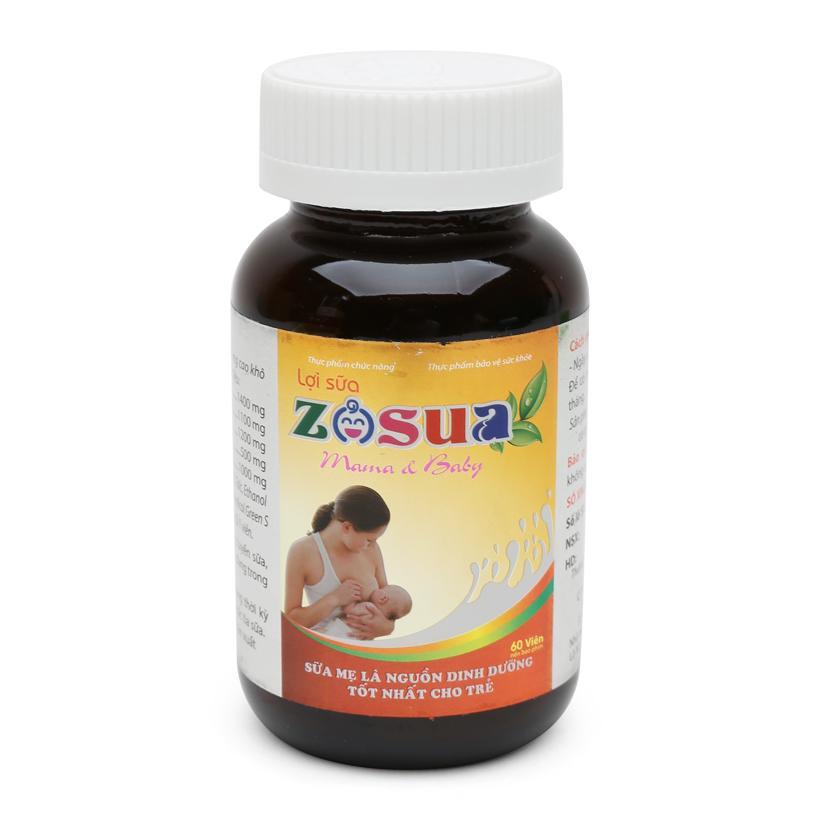Lợi sữa Zosua 60 viên Tăng số lượng và chất lượng sữa mẹ nhập khẩu