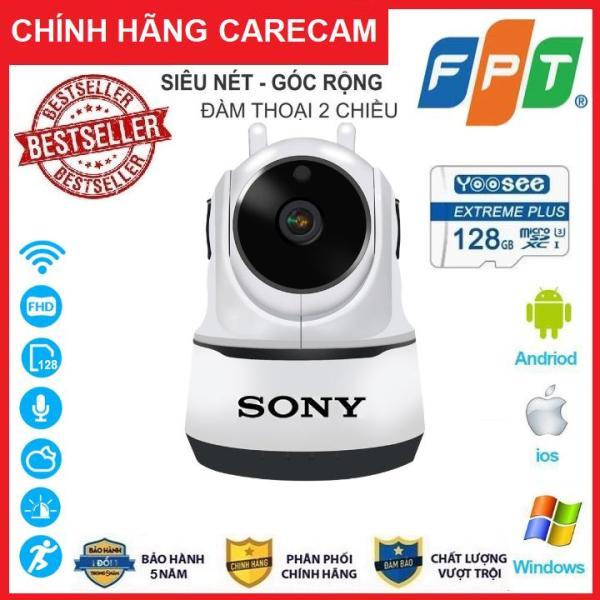 [Combo Camera thẻ 128GB BH 5 NĂM ] Camera Wifi Sony 3.0Trong Nhà Sony 2 Râu 3.0 Mpx Full Hd 1080P, Hỗ Trợ 12 Đèn Hồng Ngoại
