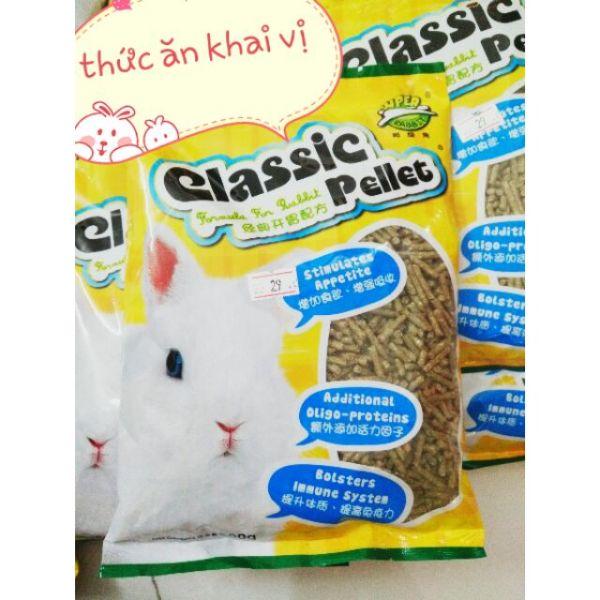 Thức ăn cỏ nén classic pellet 500gr - 1kg - 2.5kg - bịch 2.5kg