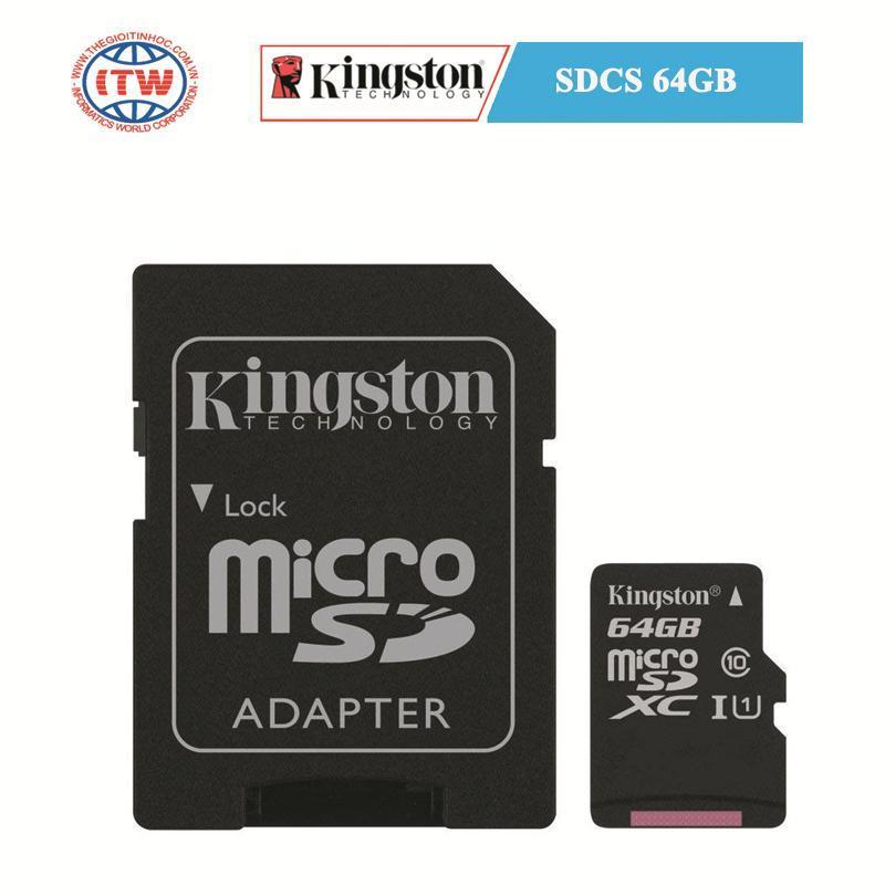 Thẻ nhớ Kingston SDCS 64GB - Hãng Phân Phối Chính Thức