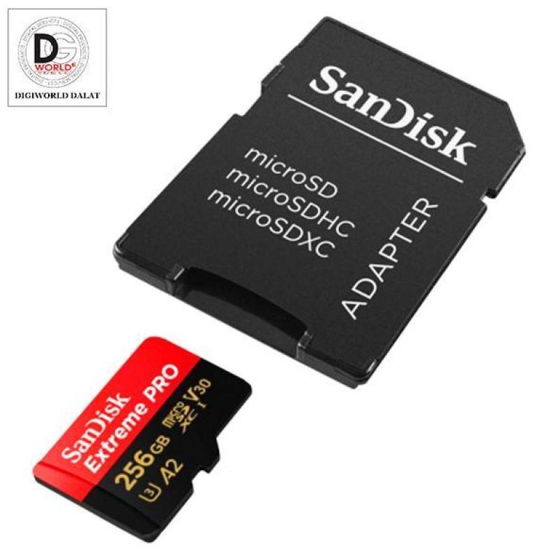 THẺ NHỚ MICRO SDXC UHS-I 256GB EXTREME PRO VỚI BỘ CHUYỂN ĐỔI SD (170MB /S)