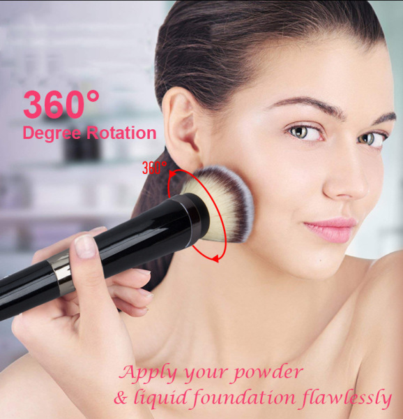 [TẶNG ĐẦU CỌ BÔNG] Cọ trang điểm lông mềm tự động, bộ cọ trang điểm bằng điện chuyên nghiệp, hiện đại dành cho phái đẹp
