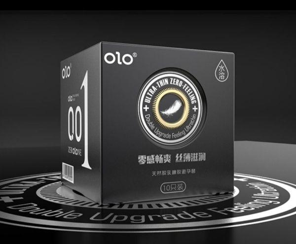 Bao cao su xuất Nhật OLO siêu mỏng 0.01mm hộp 10 cái giá rẻ