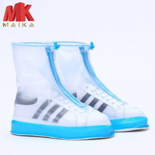 Bọc Giày Đi Mưa MK MAIKA Bằng Silicon MKPK17 Xanh Dày Dặn Chống Trượt Chống Thấm Nước Tiện Dụng Cho Nam Và Nữ