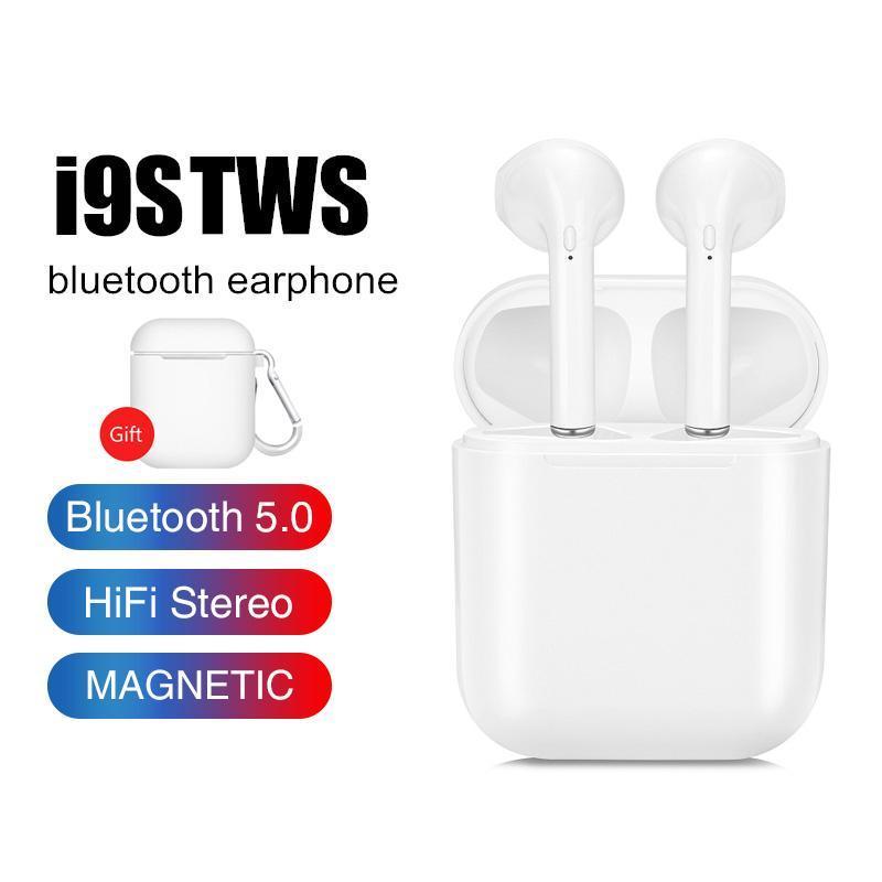 Tai Nghe Bluetooth, Tai nghe bluetooth I9 TWS, kiểu dáng nhỏ gọn, tiện lợi, sang trọng thích hợp cho cả androi và ios - Tặng kèm giá đỡ xem phim và bao đựng hộp sạc bằng silicon cao cấp - Mua ngay giảm 50% - BẢO HÀNH 12 THÁNG, ĐỔI MỚI TRONG 7 NGÀY!