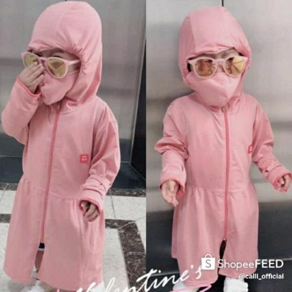 Giá bán 💖 ÁO CHỐNG NẮNG 💖 áo khoác chống nắng cho bé gái vải thông hơi thoáng mát - size từ 10-40 kg