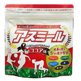 Sữa Asumiru Nhật Bản Phát Triển Chiều Cao cho trẻ Từ 3 đến 16 tuổi (180g- vị cacao)- tặng kèm chú hươu cao cổ nhồi bông vải thổ cẩm dễ thương thumbnail