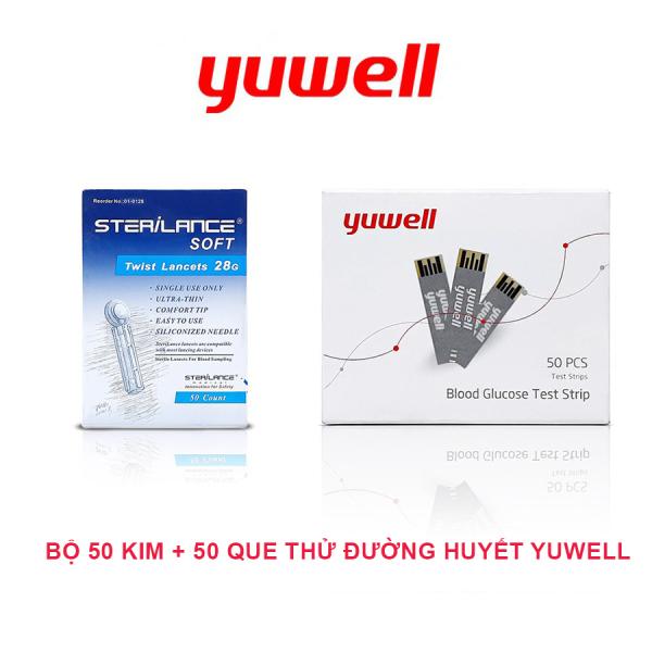 Bộ 50 kim + 50 que thử đường huyết/tiểu đường chính hãng Yuwell bán chạy
