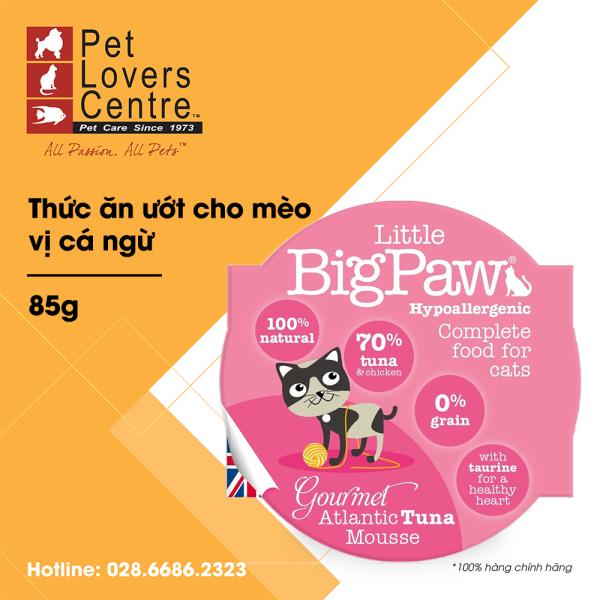 Thức ăn ướt cho mèo LITTLE BIG PAW  POT GOURMET ATLANTIC TUNA MOUSSE (HYPOALLERGENIC) 85g