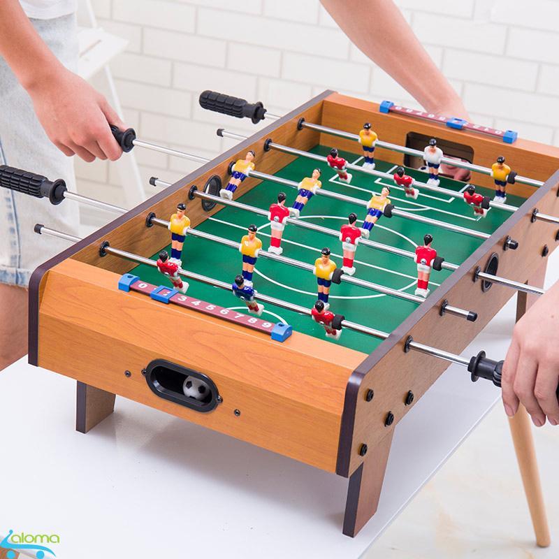 Đồ chơi bàn bi lắc bóng đá cỡ lớn Table Top Football TTF-69 bằng gỗ 70*40cm