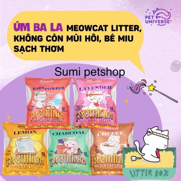 10L cat vệ sinh Meowcat cho mèo ( Lavender,baby powder, Lemon, Coffee, charcoal )