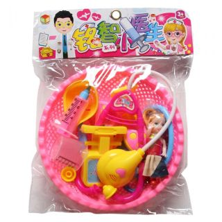 Bộ Đồ Chơi Bác Sĩ Cho Bé Có Rỗ Kèm Búp Bê Khám Bệnh Siêu Đáng Yêu đồ chơi tập làm bác sĩ nhập vai cho trẻ nhỏ - đồ chơi phát triển trí tuệ khác đồ chơi nhập vai đồ chơi dạy học đầu đời đời sống và phát triển tư duy thumbnail