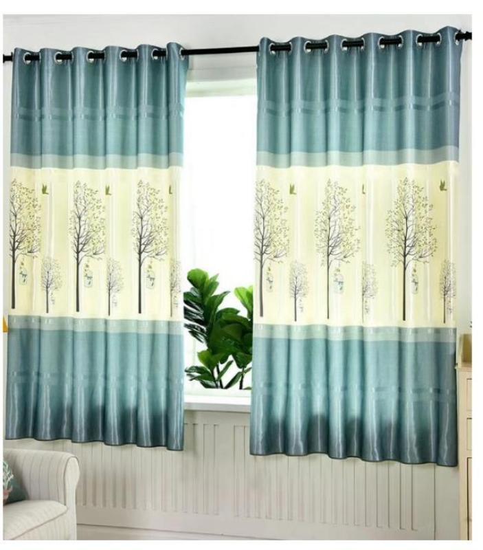 Rèm vải dày che nắng tốt cách nhiệt cây cao và chim xanh 2m x 2m cao