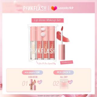 Set of 4 Pinkflash Moisturizing Liquid Lipstick Brightening Lip Color lip gloss +PVC bag 120g thumbnail