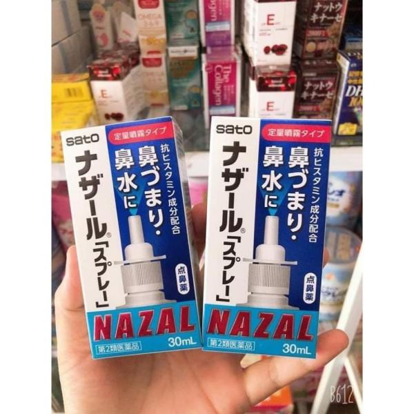 Xịt Mũi Nazal Giảm Sổ Mũi Ngạt Mũi Viêm Xoang Hương Lavender Nhật Bản 30Ml