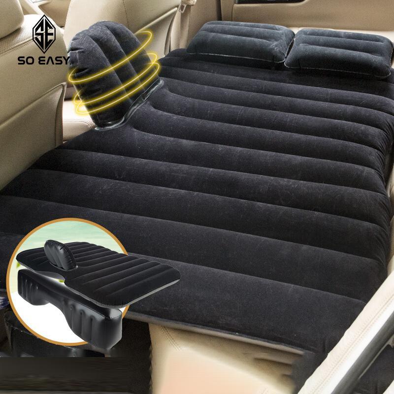 Giường đệm, nệm hơi thông minh du lịch cho ôtô, xe hơi + Kèm bơm điện, vòi đa năng sử dụng được trên xe nhiều họa tiết_INS009( giao ngẫu nhiên)