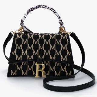 Túi xách nữ đeo chéo chất liệu da phối họa tiết quai lụa hàng cao cấp - NT27 thumbnail