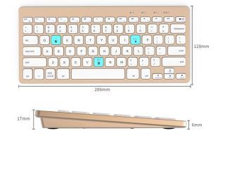 Bàn phím không dây, Bàn phím mini di động. Bàn phím bluetooth BOW HB191A thiết kế mỏng nhẹ , thời trang , tinh tế thumbnail