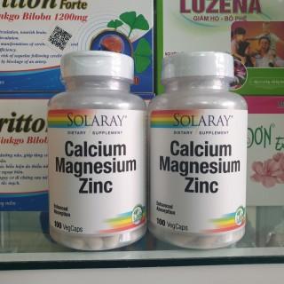 [Date 10 2024] VEGAN - Viên bổ sung Calcium Magnesium Zinc 100 viên hãng Solaray thumbnail