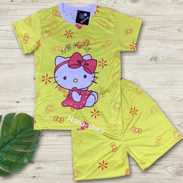 Giá bán Bộ quần áo trẻ em bé gái in 3D hình micky vàng