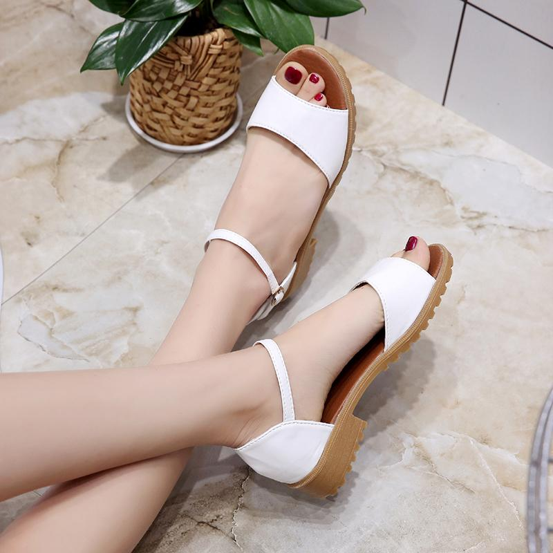Women Korean Style Buckle Strap Sandals By Taobao Collection.