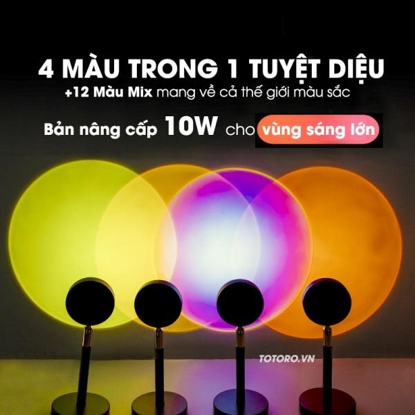 Bảng giá Đèn trang trí chụp ảnh 4 Màu Trong 1 - Đèn Sunset - Đèn Rose BlackPink
