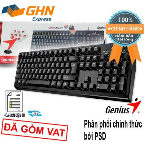 Bảng giá Bàn phím máy tính Genius KB101 chuẩn US kết nối USB phím nhẹ, góc tròn (Màu đen) phân phối bởi PSD Phong Vũ