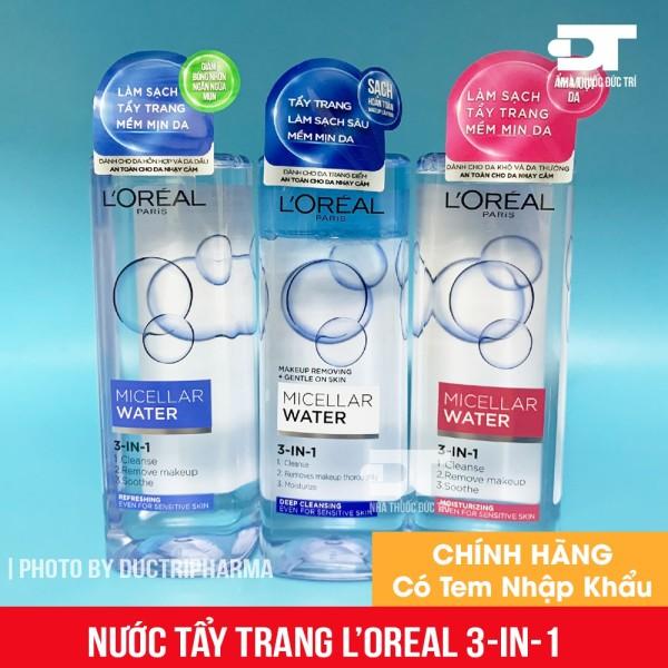 Nước tẩy trang Loreal - LOreal Paris 3-in-1 Micellar Water - 400ml
