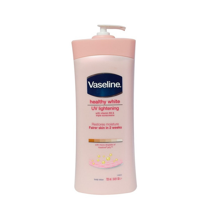 Dưỡng da Vaseline UV Lightening with vitamin B3 body lotion 725ml