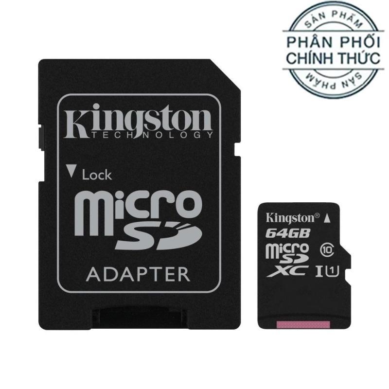Thẻ nhớ MicroSDXC Kingston Canvas Select 64GB Class 10 U1 SDCS/64GB - Hãng phân phối chính thức