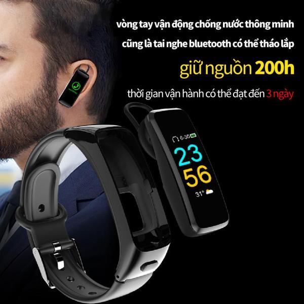 Giá WorldMart - Vòng tay vận động thông minh + tai nghe bluetooth 2 trong 1