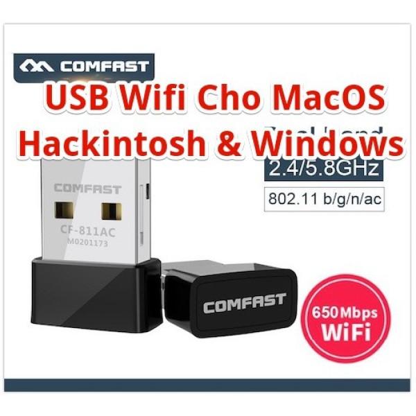 Bảng giá Usb Thu Wifi Comfast Cf-811ac Băng Tần Kép 2.4 Và 5 Ghz ( Hỗ Trợ Macos, Windows, Hackintosh ) Phong Vũ
