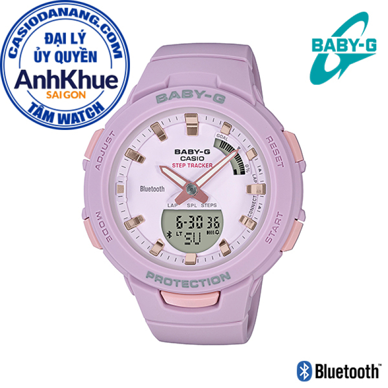 Đồng hồ nữ dây nhựa Casio Baby-G chính hãng Anh Khuê BSA-B100-4A2DR (41mm)