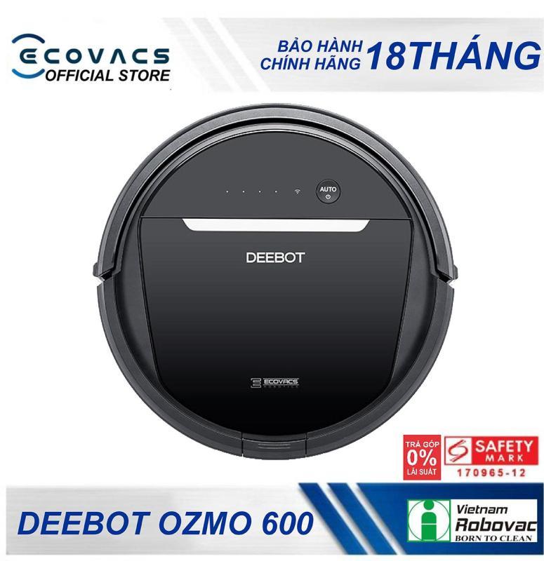 Robot hút bụi lau nhà Ecovacs Deebot Ozmo 600 Robot Vacuum Cleaner - Kiểm soát mọi hoạt dộng trên thiết bị di động qua ứng dụng Ecovacs App
