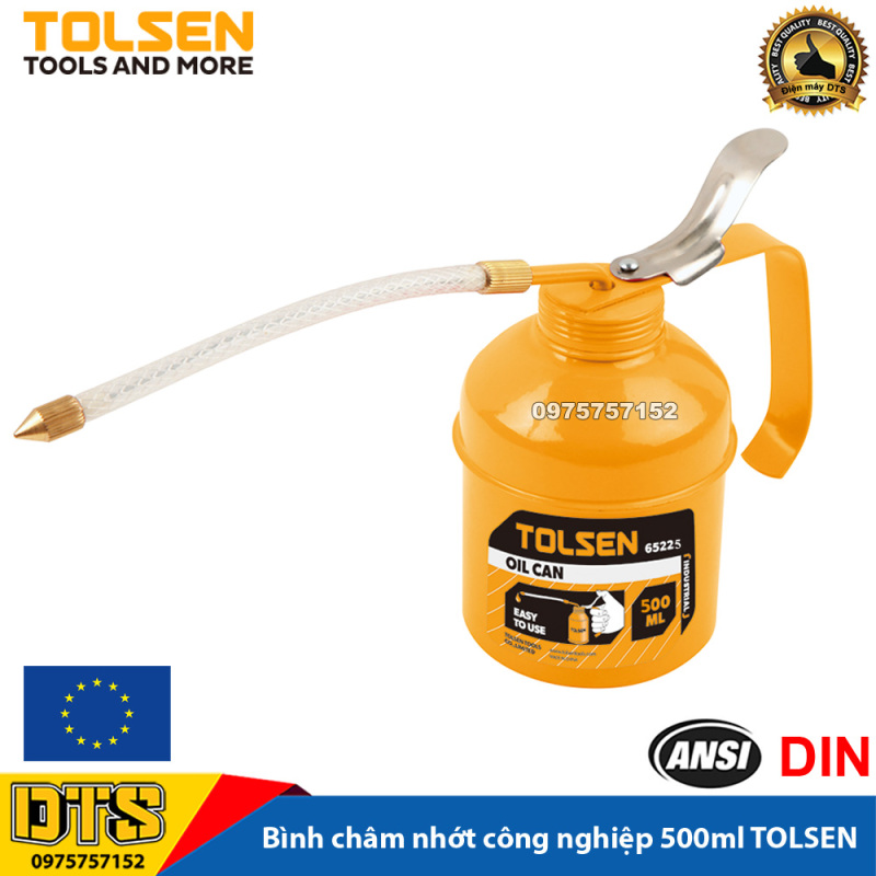 Bình châm nhớt kim loại sơn tĩnh điện công nghiệp cho máy móc cơ khí TOLSEN, ống nhựa dẻo linh hoạt (Vịt dầu xịt nhớt kim loại) - Tiêu chuẩn xuất khẩu Châu Âu
