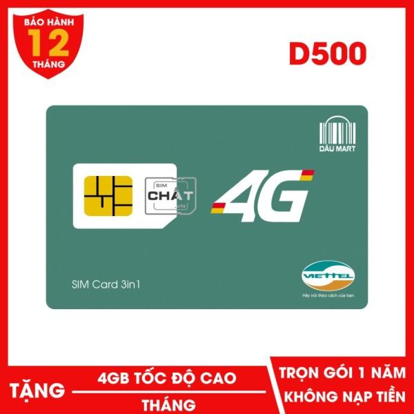 SIM 4G Trọn Gói 1 Năm Viettel  D500 Với 4GB/Tháng