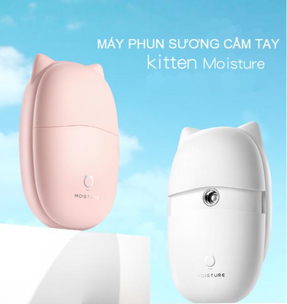 Máy phun sương mini cầm tay Kitten Jisulife BS01, xịt khoáng và cấp ẩm cho da mặt, làm đẹp da, hỗ trợ trang điểm, gồm 3 bình chứa, chức năng tự động tắt thông minh