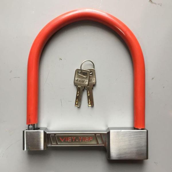 khóa chữ u, khóa chữ u Việt tiệp cao cấp, khóa cửa, khóa xe máy
