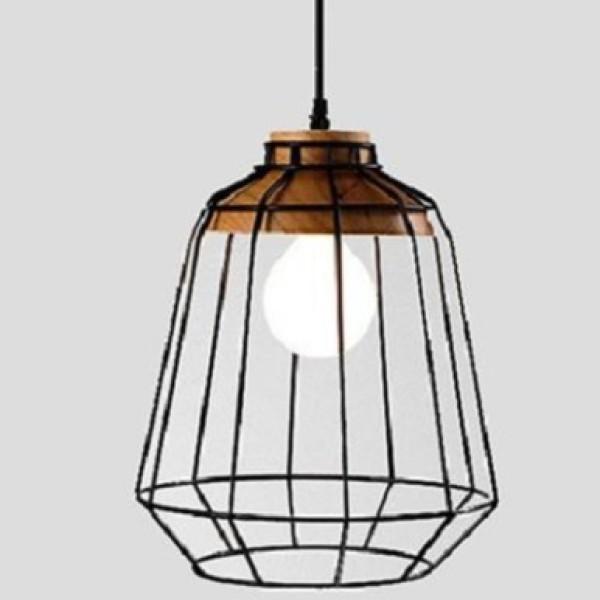 Đèn thả: mẫu đèn thả trang trí quán ăn lồng sắt bóng tròn
