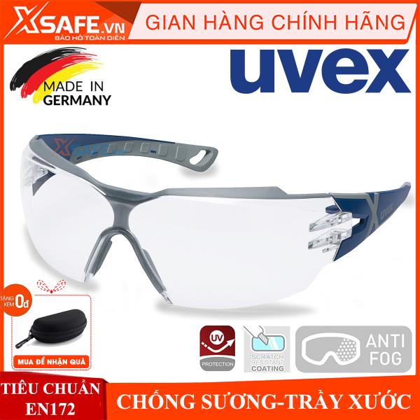 Kính bảo hộ UVEX PHEOS CX2 9198257 kính chống bụi, chống hơi nước trầy xước vượt trội, ngăn chặn tia UV, mắt kính đi xe máy, lao động, phòng dịch, (màu trà) chính hãng [XSAFE] [XTOOLS]