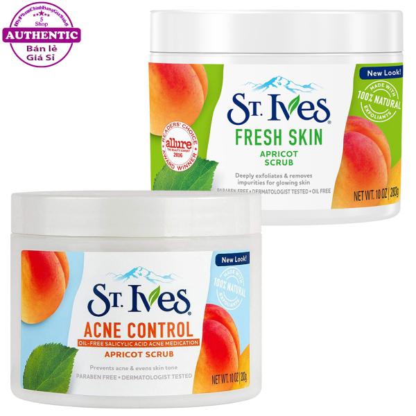 Tẩy Da Chết ST.IVES Apricot Scrub Dịu Nhẹ Hương Mơ 283g USA