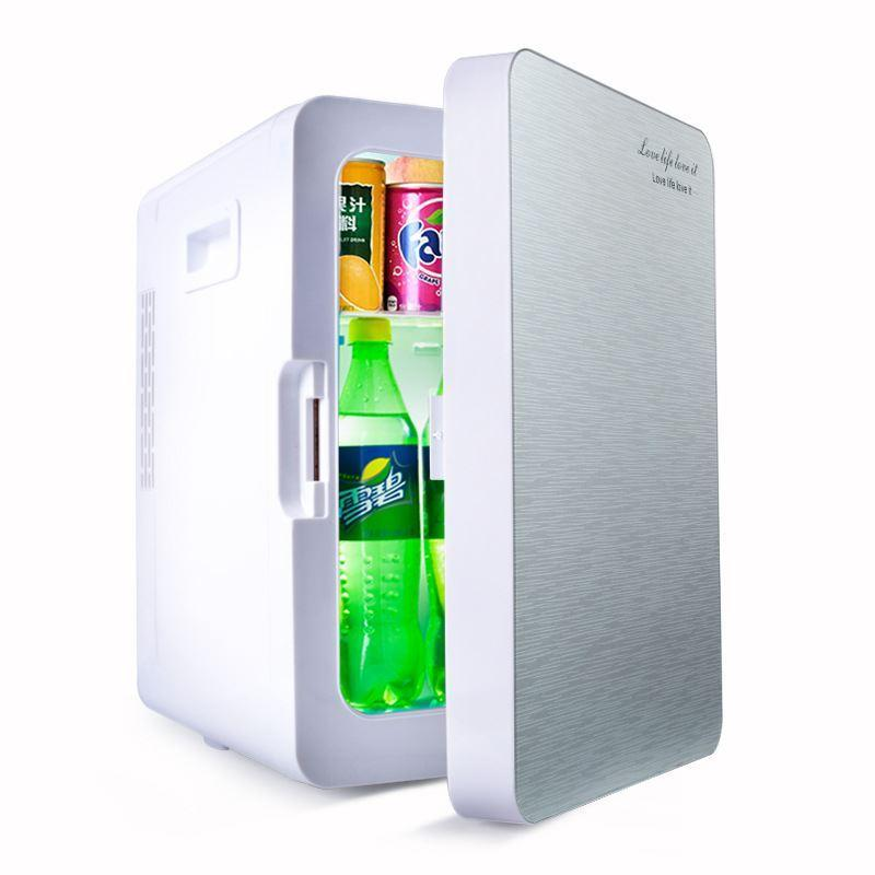 Tủ lạnh 20 Lít 2 chiều nóng - lạnh nguồn vào 12v/220v-Tủ lạnh mini cho xe ô tô và hộ gia đình (Màu họa tiết ngẫu nhiên)